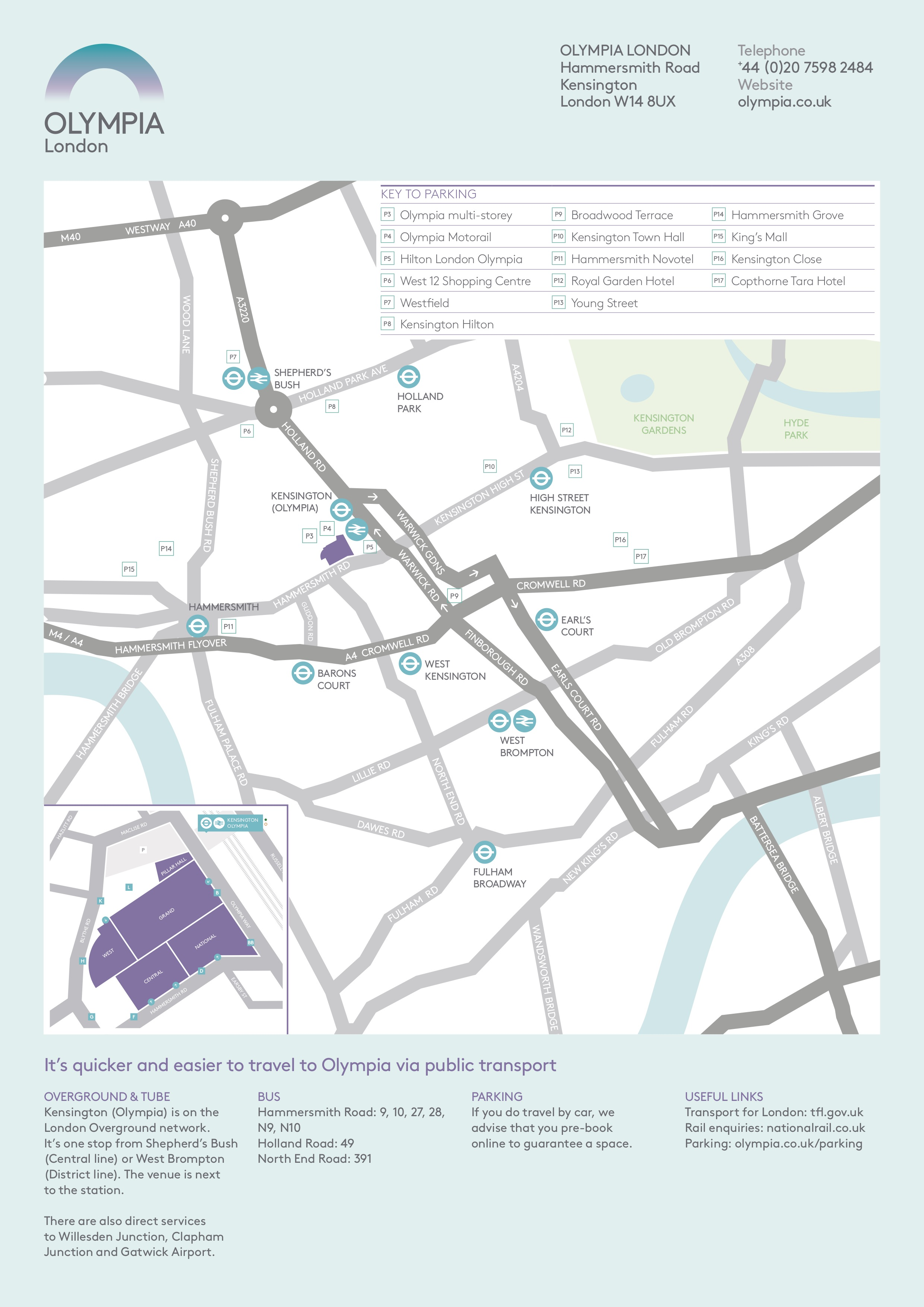 Exhibitors Manual London 2018 Vegfestuk Natwest Wiring Instructions Olympia Has Two Public Car Parks They Are Indicated As P3 And P4